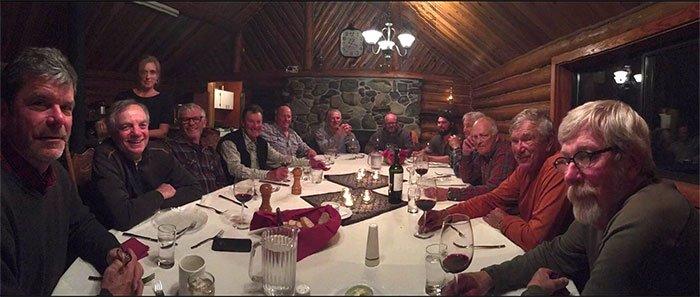 Dinner at the Babine Steelhead Lodge